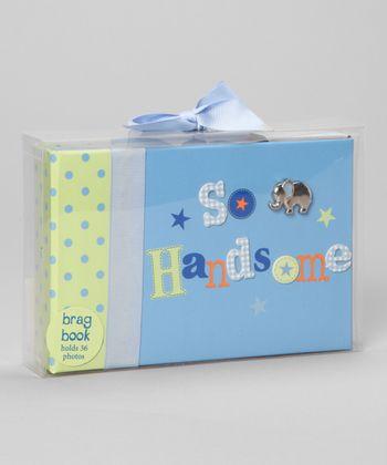 Baby Essentials Blue 'So Handsome' Elephant Brag Book