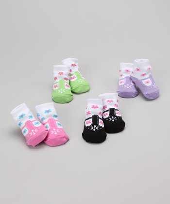 Bright Floral Shoe Socks Set