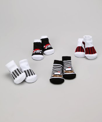 Black & White Pirate Socks Set