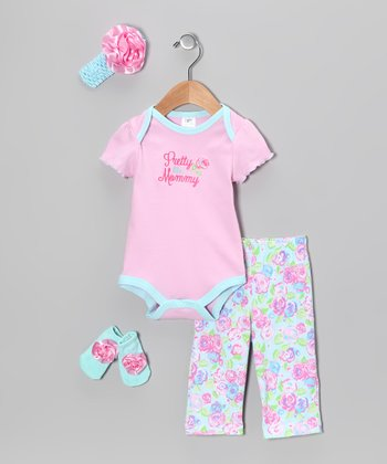 Light Pink 'Pretty Like Mommy' Bodysuit Set - Infant