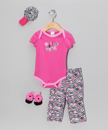 Baby Essentials Pink 'Little Diva' Bodysuit Set - Infant