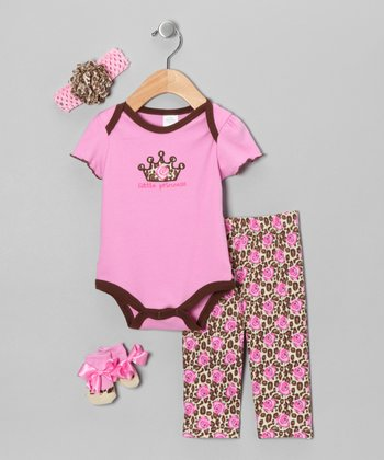 Pink Rose 'Little Princess' Bodysuit Set - Infant