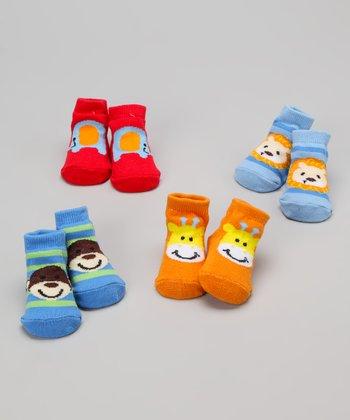 Baby Essentials Safari Hues Animal Sock Set