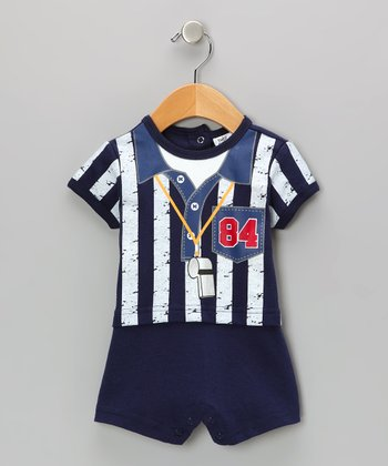 Navy Referee Romper