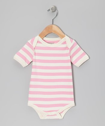 Cotton Candy & White Stripe Organic Bodysuit