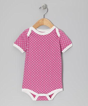 Pink Pin Dot Organic Bodysuit