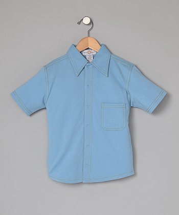 Cornflower Blue Snap-Front Shirt - Infant, Toddler & Boys