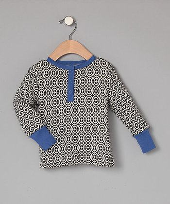 Organic Natural Geometric Henley - Infant, Toddler & Boys