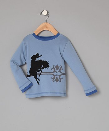 Organic Light Blue Cowboy Tee - Infant, Toddler & Boys