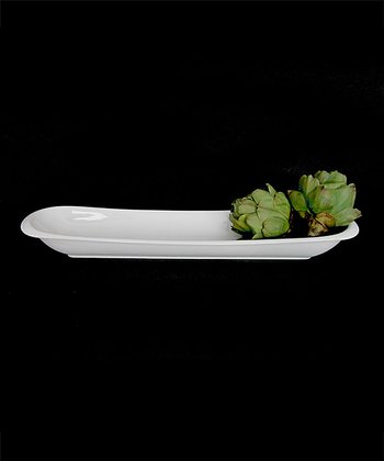 White Porcelain 20'' Rectangular Dish