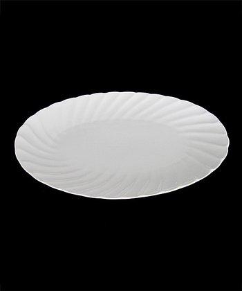 White Porcelain Oval Platter