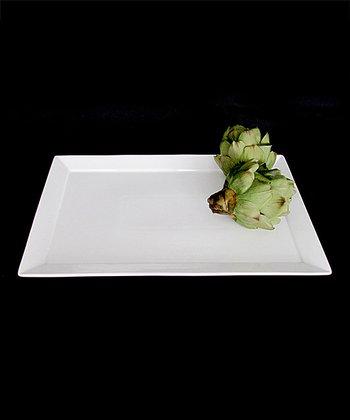 White Porcelain 15'' Rectangular Platter