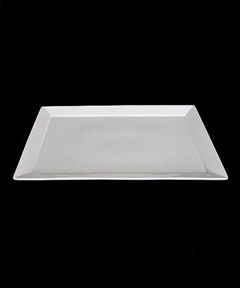 White Porcelain 14'' Rectangular Platter