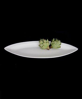 White Porcelain Eye-Shaped Serving Dish
