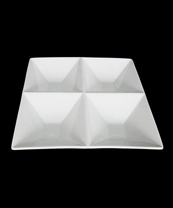 White Porcelain Four-Section Dish