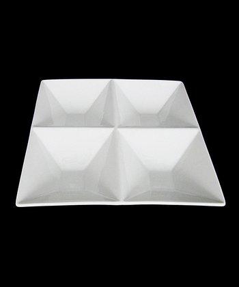 White Porcelain Four-Section Dish