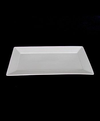 White Porcelain 16'' Rectangular Platter