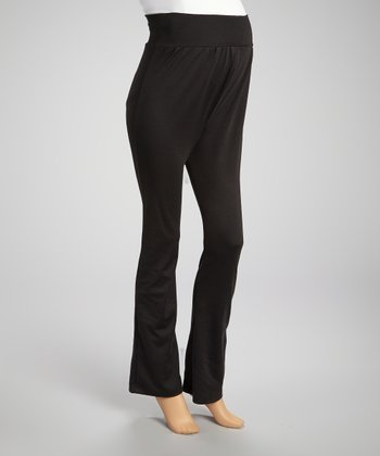 Black Over-Belly Maternity Pants