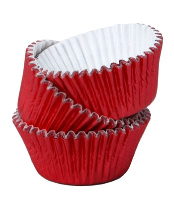 Red Foil Mini Cupcake Liner - Set of 72