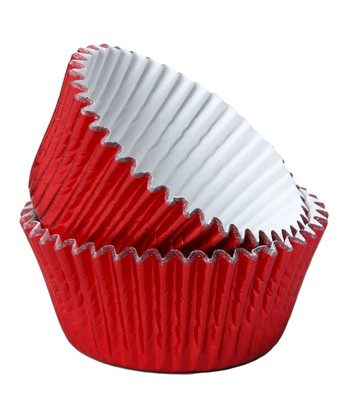 Red Foil Cupcake Liner - Set of 80