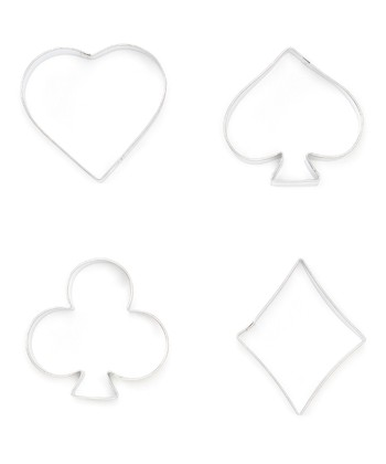 Silver Card Suits Cookie Cutter Set
