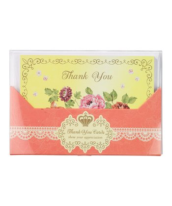 Floral Thank You Card - Set of 12