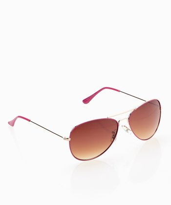 Rose & Chestnut Traditional Pilot Sunglasses