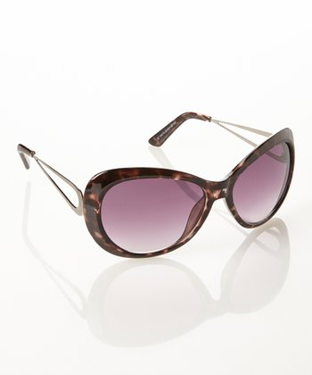 White Tortoise & Smoke Round Sunglasses