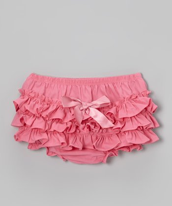 Lipstick Pink Ruffle Diaper Cover - Infant & Toddler