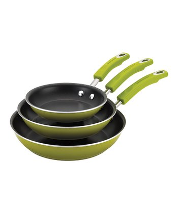 Green Skillet Three-Piece Set