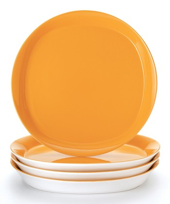 Orange Dinner Plate - Set of Four
