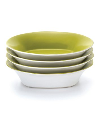Green Soup/Pasta Bowl - Set of Four