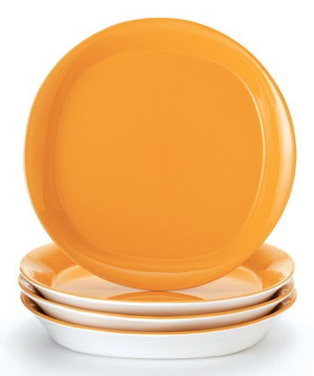 Yellow Salad Plate - Set of Four