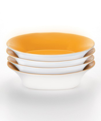 Orange Soup/Pasta Bowl - Set of Four