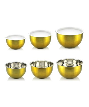 Gold Mixing Bowl Set