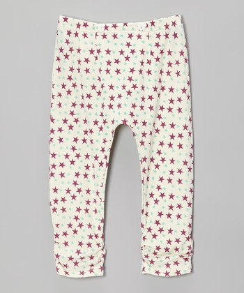 Boysenberry Star Ruched Leggings - Infant