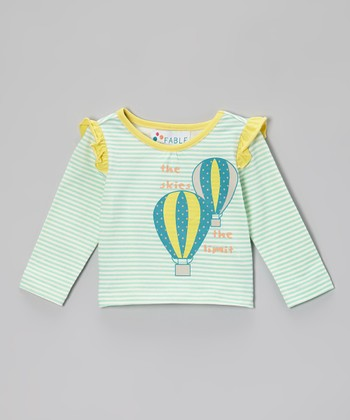 Sea Glass Stripe Balloon Ruffle Tee - Infant