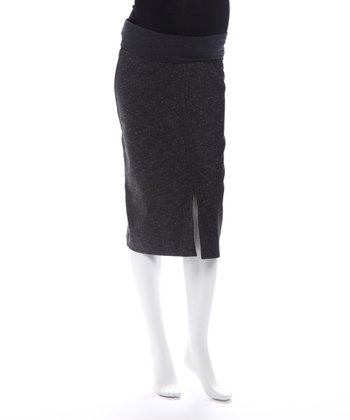 Juliet Dream Black Tweed Maternity Skirt