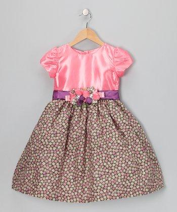 Dusty Rose Floral Dress - Toddler & Girls