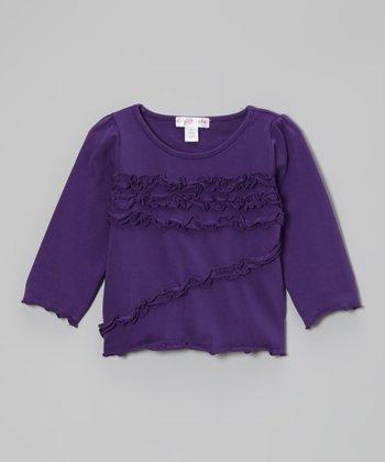 Royal Lilac Ruffle Top - Toddler & Girls