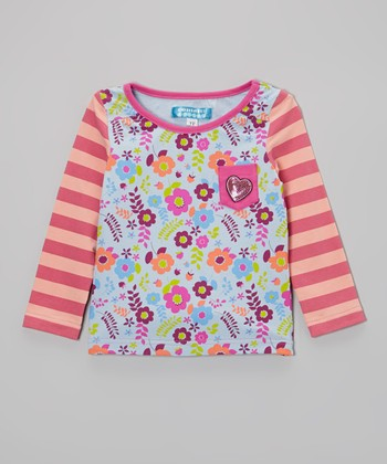 Raspberry Rose Floral Pocket Top - Toddler & Girls
