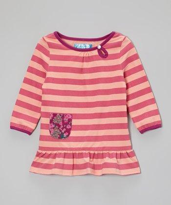 Raspberry Rose & Peach Amber Stripe Tunic - Toddler & Girls