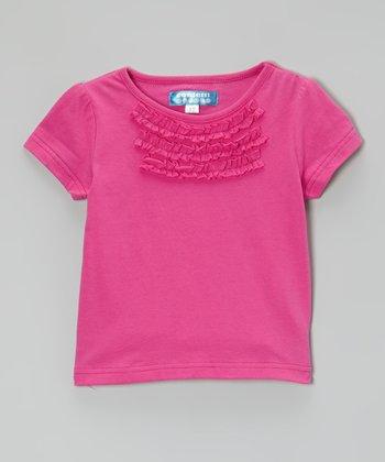 Raspberry Rose Ruffle Tee - Toddler & Girls