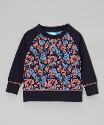 Navy Floral Sweatshirt - Toddler & Girls