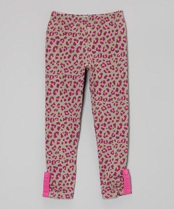 Boysenberry Leopard Leggings - Toddler & Girls