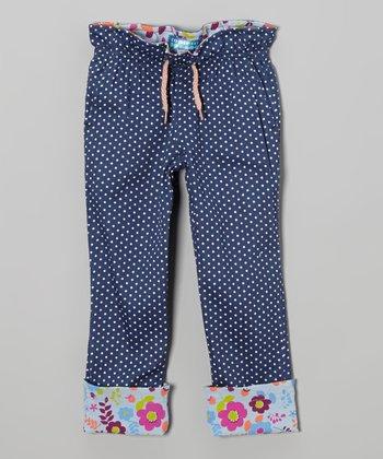 Federal Blue Cinch-Waist Pants - Toddler & Girls