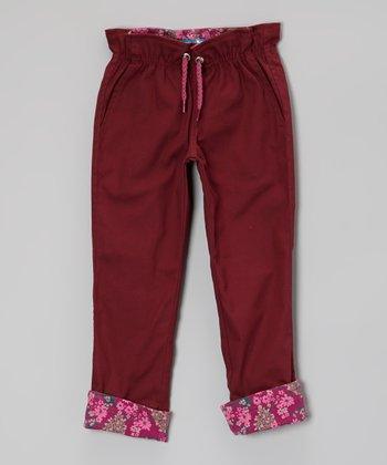 Boysenberry Cinch-Waist Pants - Toddler & Girls