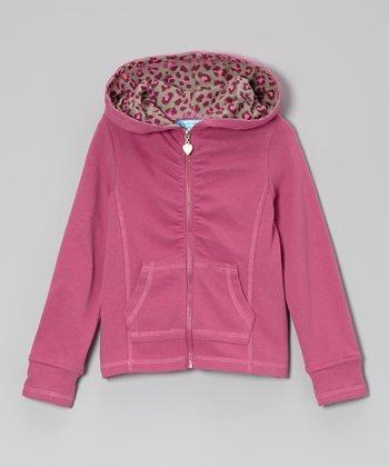 Raspberry Rose Zip-Up Hoodie - Toddler & Girls