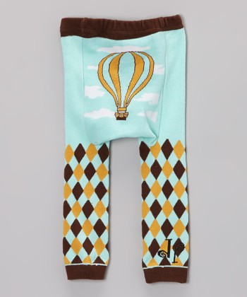 Blue Hot Air Balloon Leggings