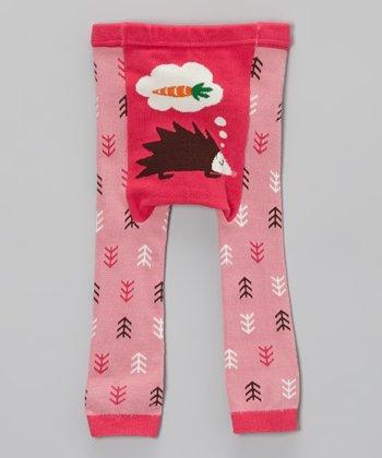 Doodle Pants Pink Hedgehog Leggings